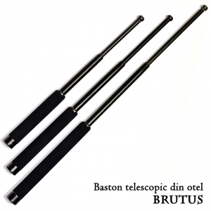 Baston telescopic mic Brutus otel-carbon, tip ASP (42.5cm)